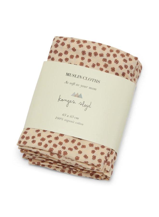 Muslin cloth Buttercup Rosa (3 pack)