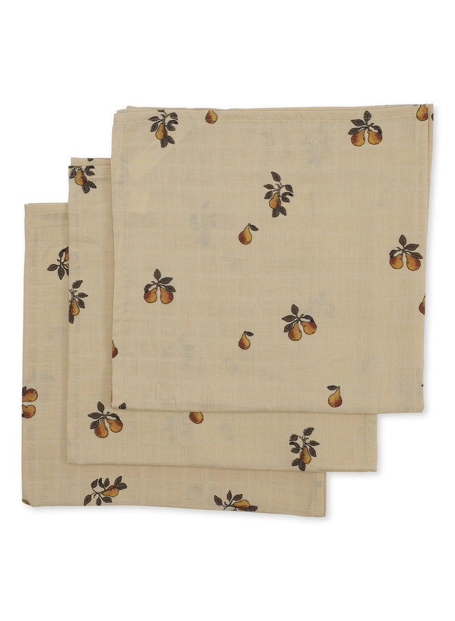 Muslin cloth Poire (3 pack)