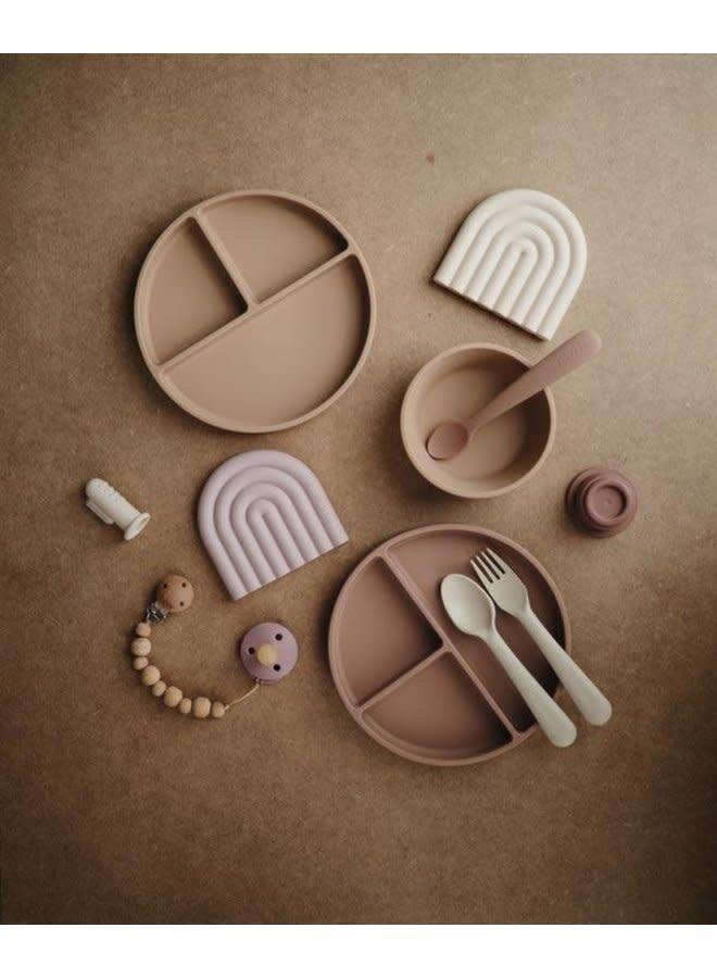 Silicone antislip plate - Blush