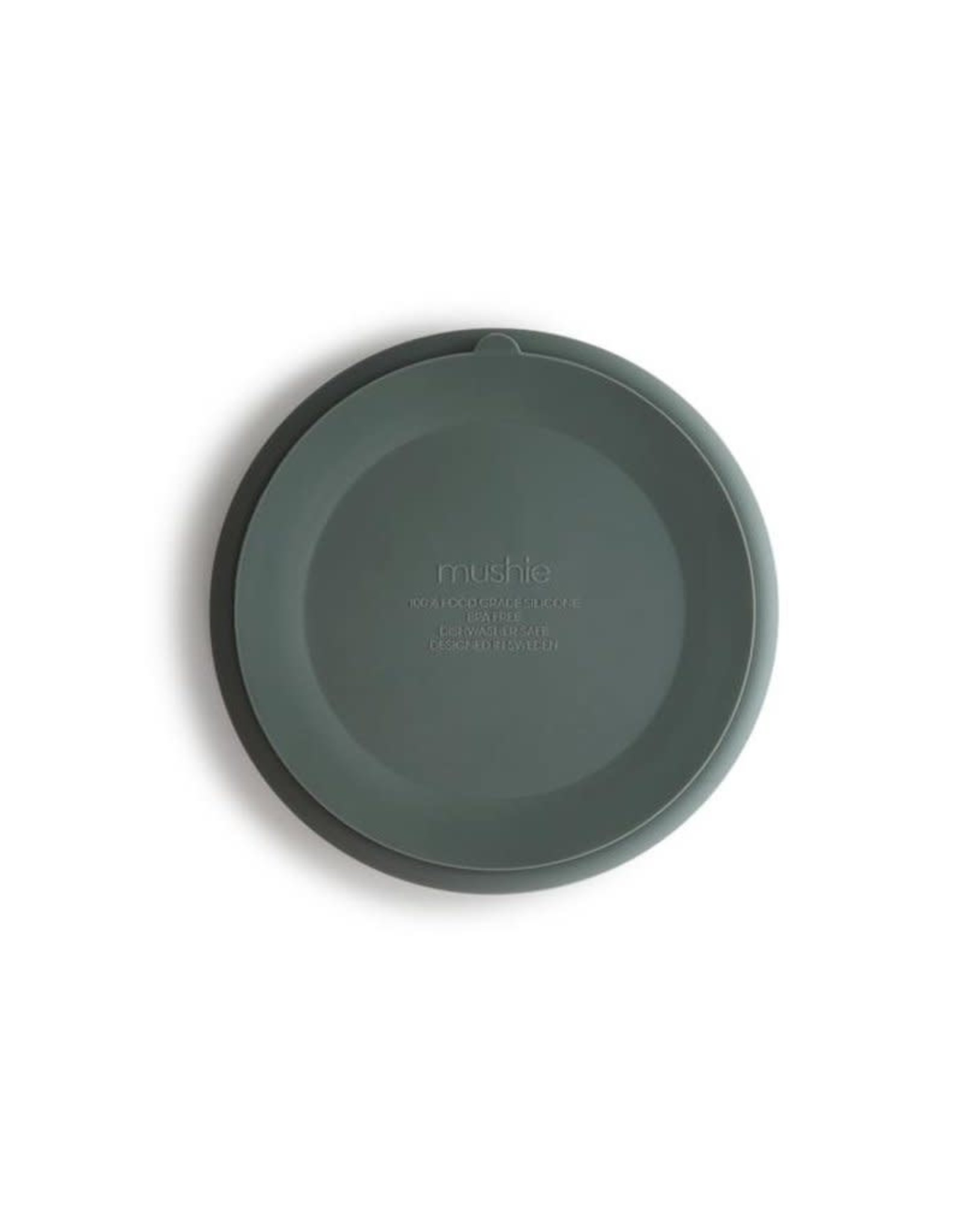 Mushie Silicone antislip plate - Dried Thyme