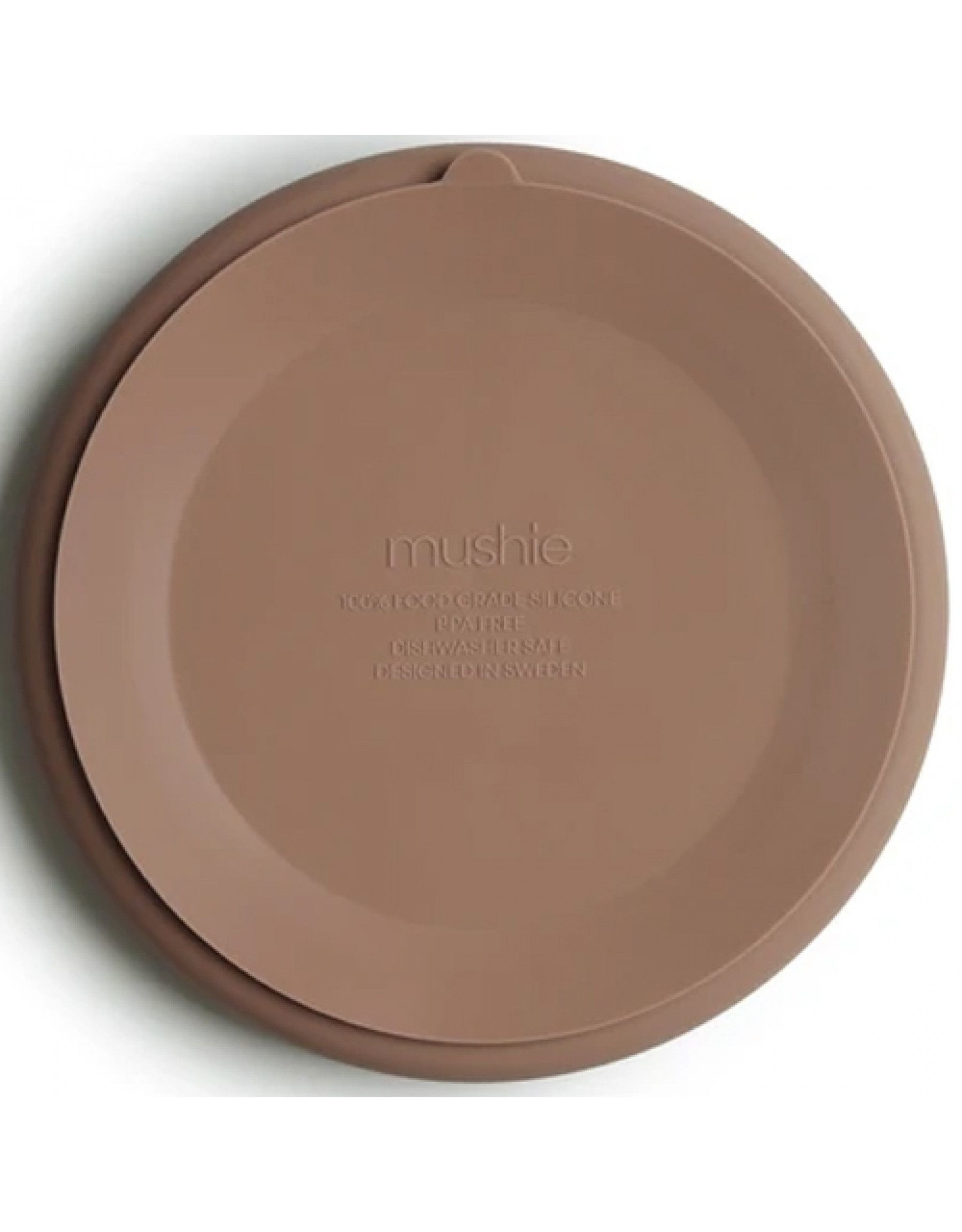 Mushie Silicone antislip plate - Natural