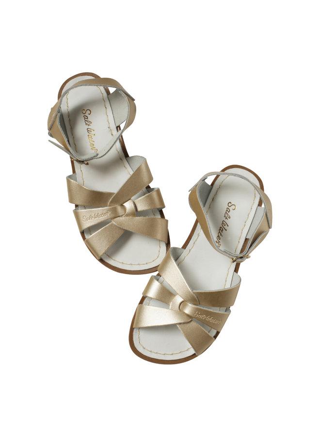 Salt water sandals original gold