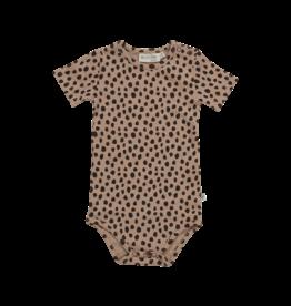 Blossom Kids Body short sleeve Animal Dot Warm Sand