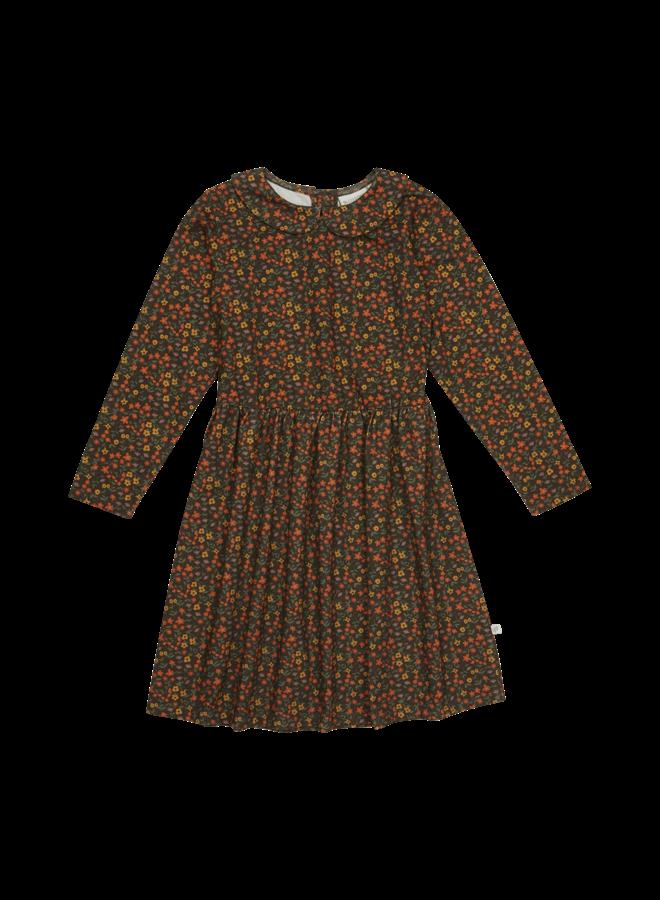 Peterpan long sleeves dress - Flower Field
