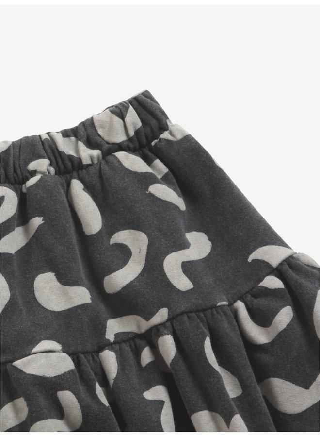 Shapes all over fleece skirt
