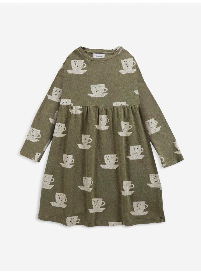 Cup of tea all over midi dress