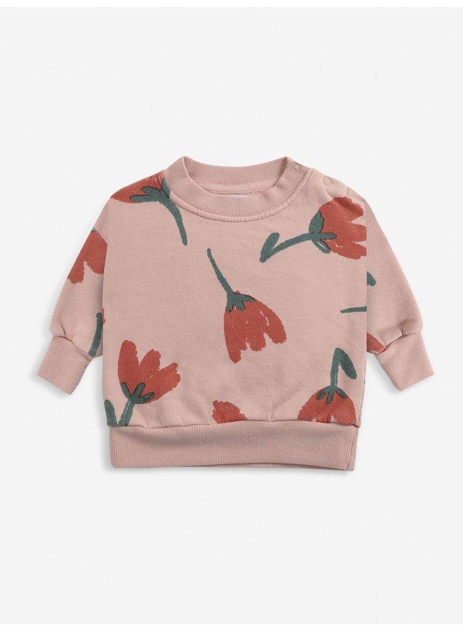 Big Flowers all over sweatshirt