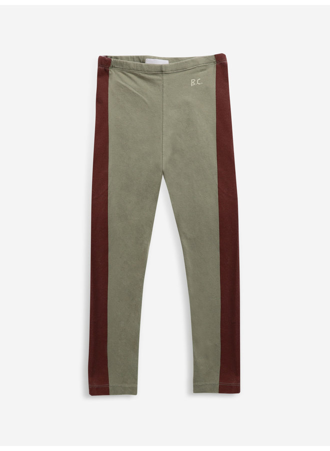 Maroon stripes leggings