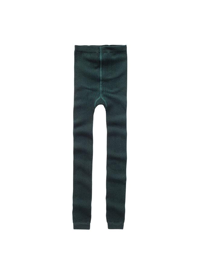 Sockless Tights Dark Emerald
