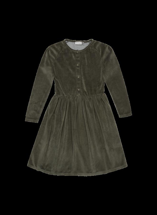 Velvet dress - Sage