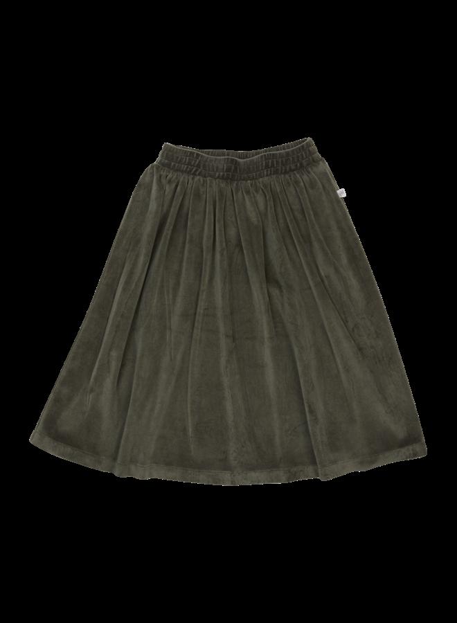 Velvet Midi Skirt - Sage