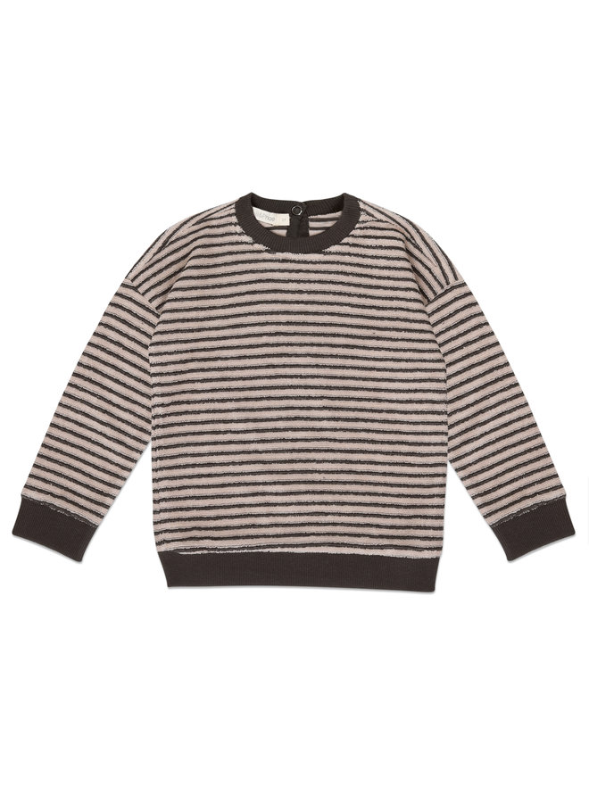 Sweater loopy stripes Graphite