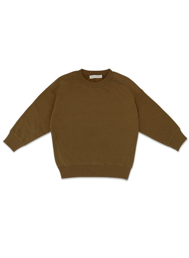 Oversized sweater bronze olive