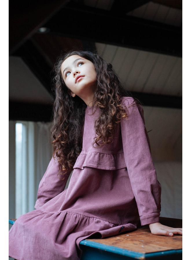 Mila corduroy dress Happy Mauve