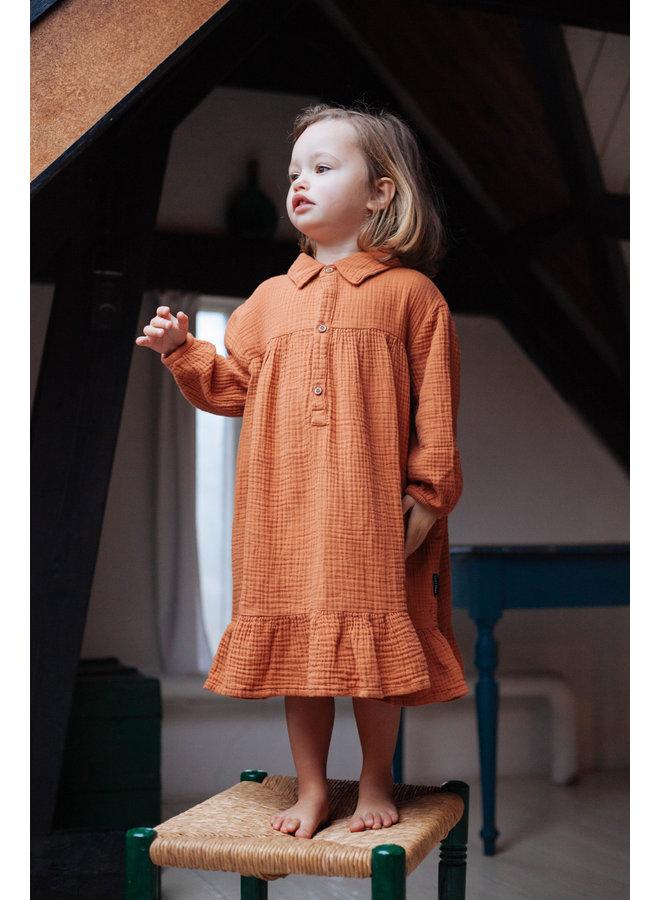 Lilyan dress Hazel Brown