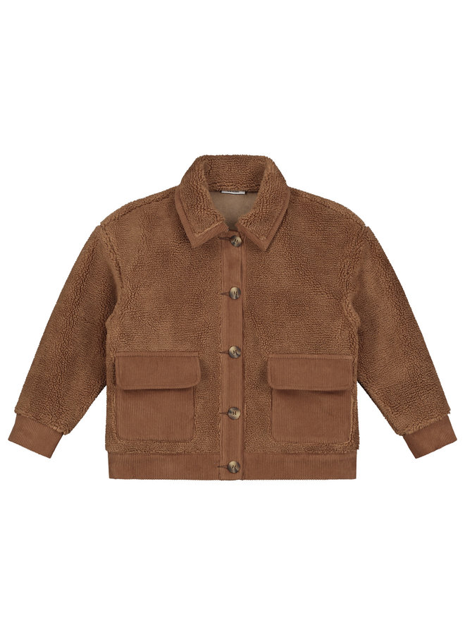 Royal teddy jacket forest brown