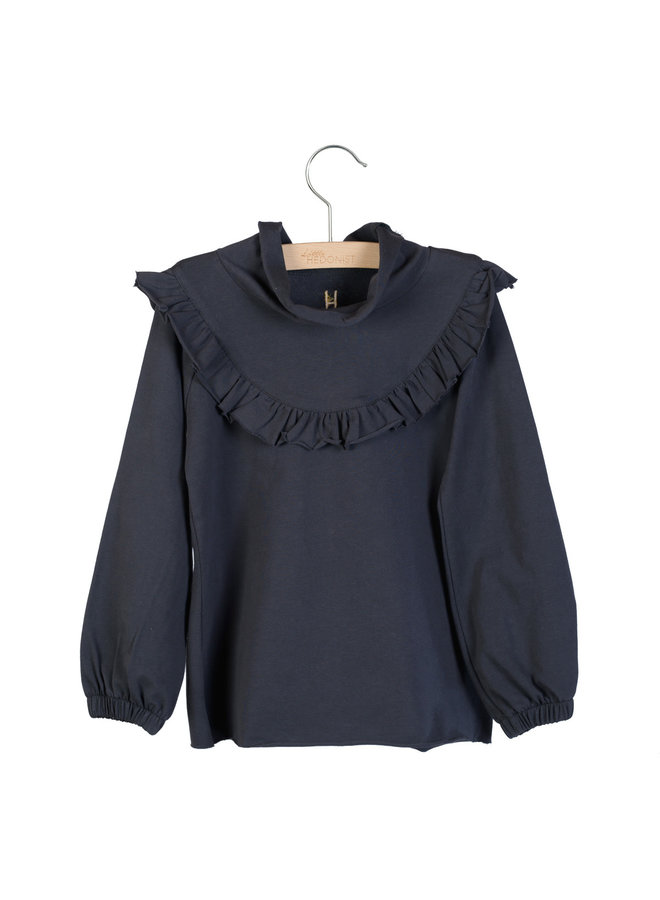 Ruffled Long Sleeve Lucy Blue Graphite
