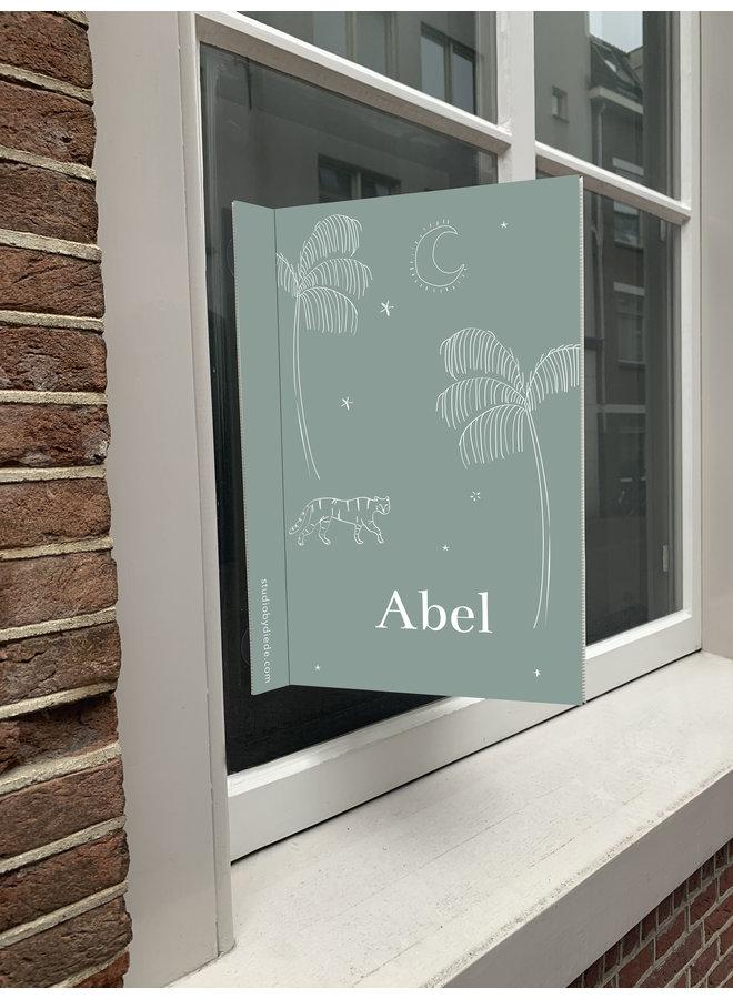 Geboortebord Abel