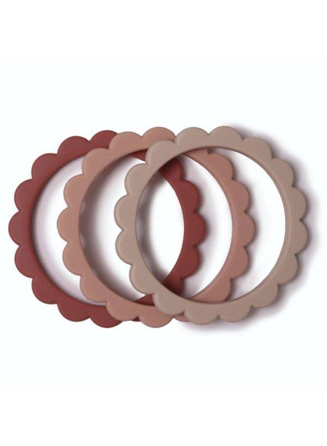 Teething bracelet (Rose-Blush-Sand)