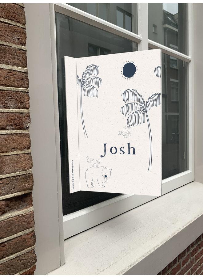 Geboortebord Josh