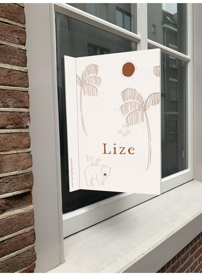Geboortebord Lize