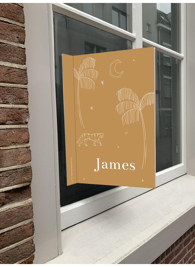 Geboortebord James