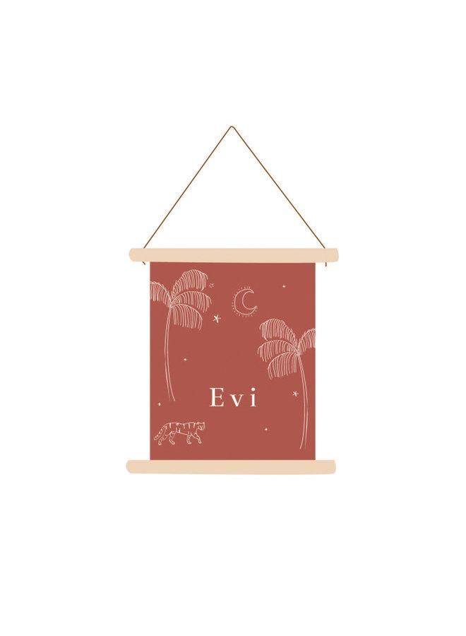 Textielposter Evi