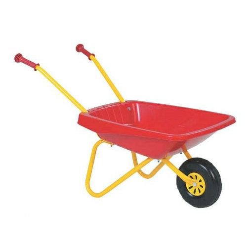De Landwinkel Kinderkruiwagen, geel / rood