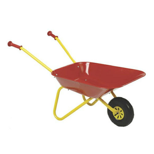 De Landwinkel Kinderkruiwagen, groen / rood