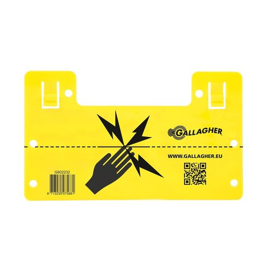 Gallagher EU Waarschuwingsbordje (universeel)