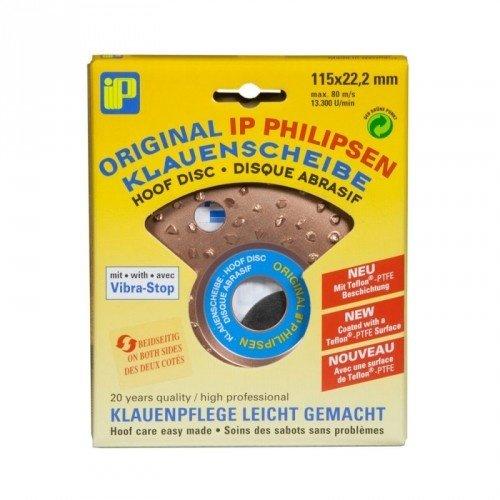 Philipsen Hoefslijpschijf 115mm. - Dubbel