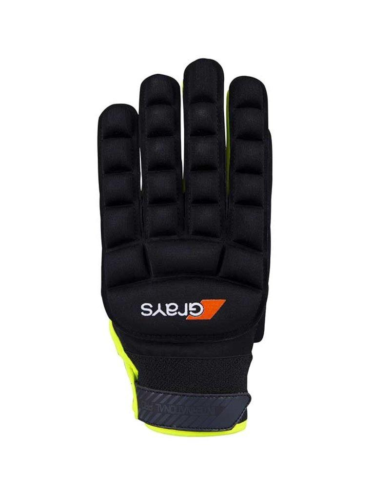 Grays Int Pro Glove Hockeyhandschoen Zwart Geel