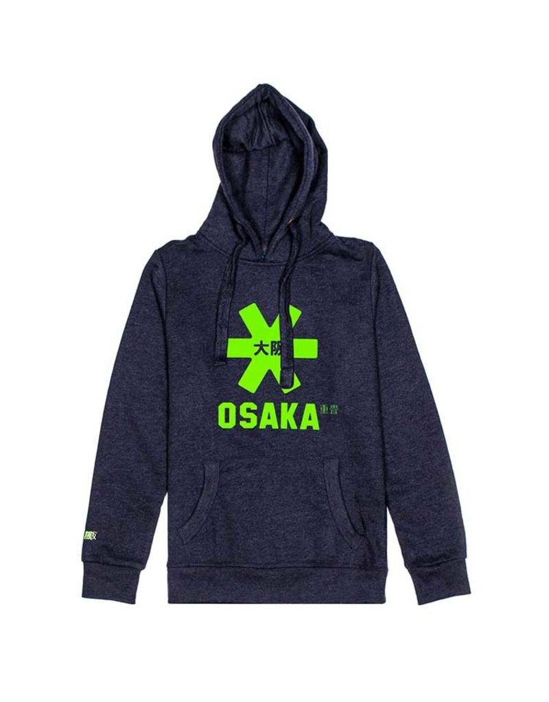 Osaka Deshi Hoodie Green Star Navy Melange