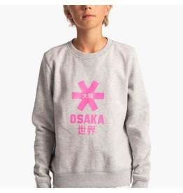 Osaka Deshi Sweater Pink Star Grey Melange