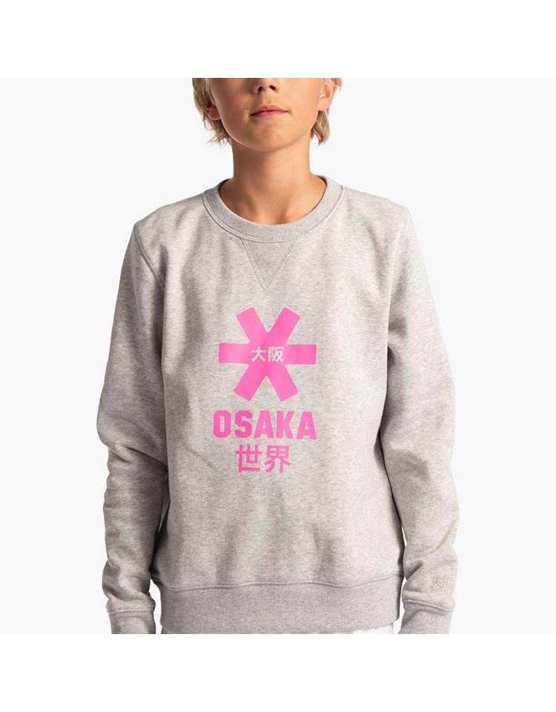 Osaka Deshi Sweater Pink Star Grey Melange