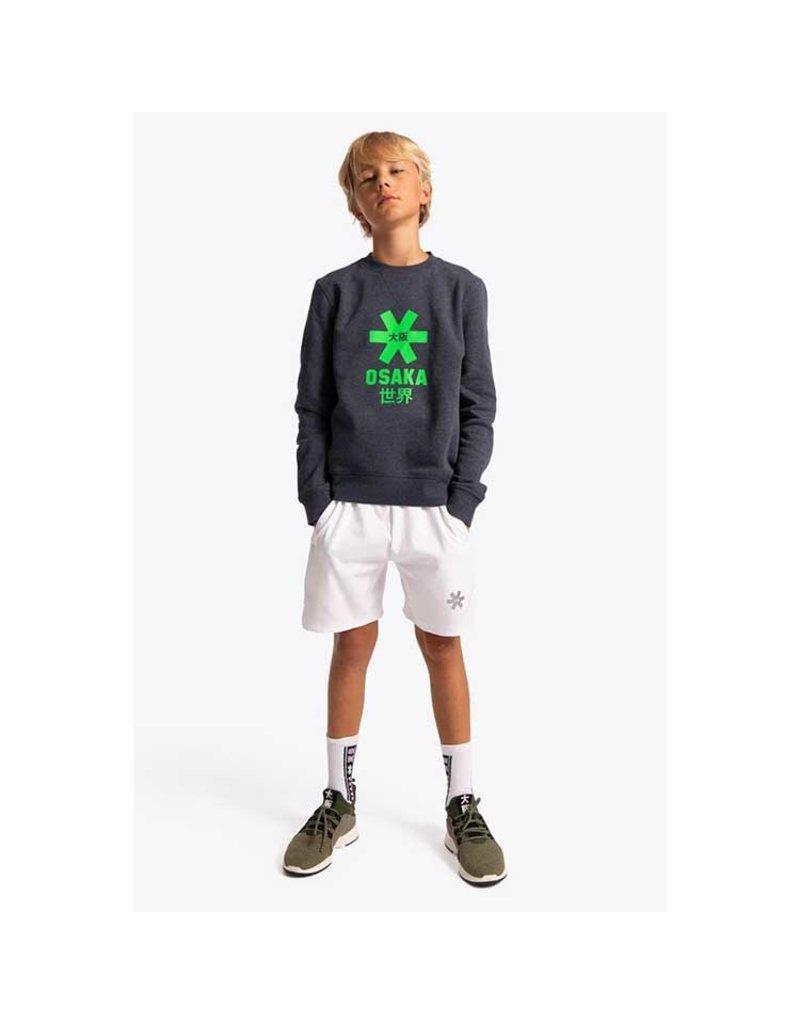 Osaka Deshi Sweater Green Star Navy Melange