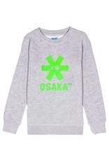 Osaka Deshi Sweater Green Star Grey Melange