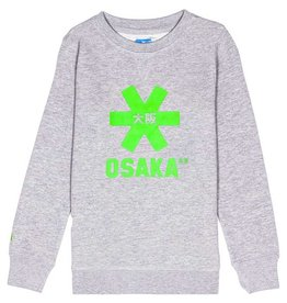 Osaka Deshi Sweater Green Star Grey Melange