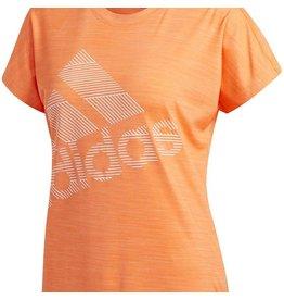 Adidas Bos Logo T-shirt Ladies Oranje
