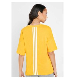 Adidas 3-Stripes Shirt Ladies Geel