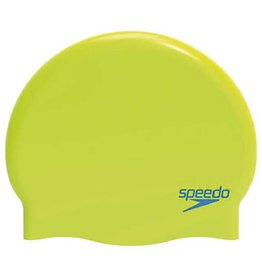 Speedo Badmuts Moulded Silicone Cap Junior neon-groen