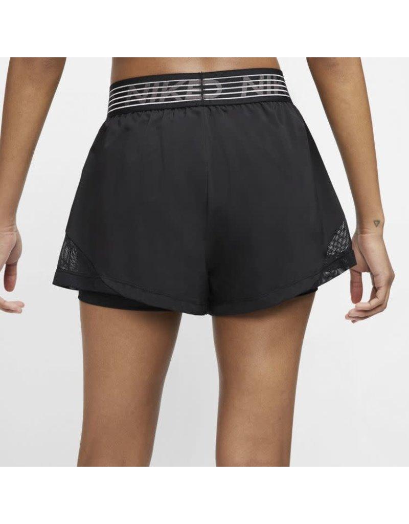 Nike Pro Flex 2 in 1 Short Dames Zwart