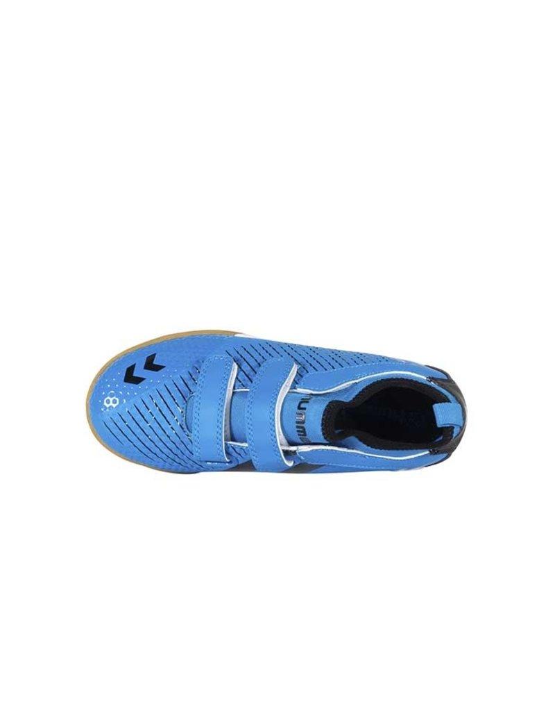 Hummel Zoom Zaalschoen Junior Blauw Zwart