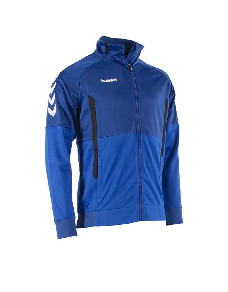 Hummel Authentic Jacket met Rits Blauw Junior