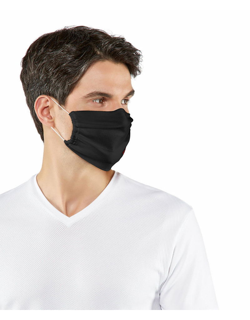 Falke Mondmasker 2-pack wasbaar Zwart