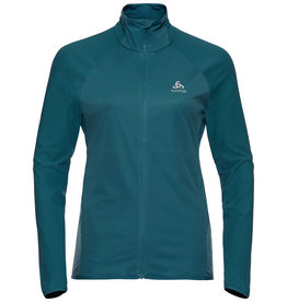 Odlo Jacket Zeroweight Warm Runningjack Groen Dames