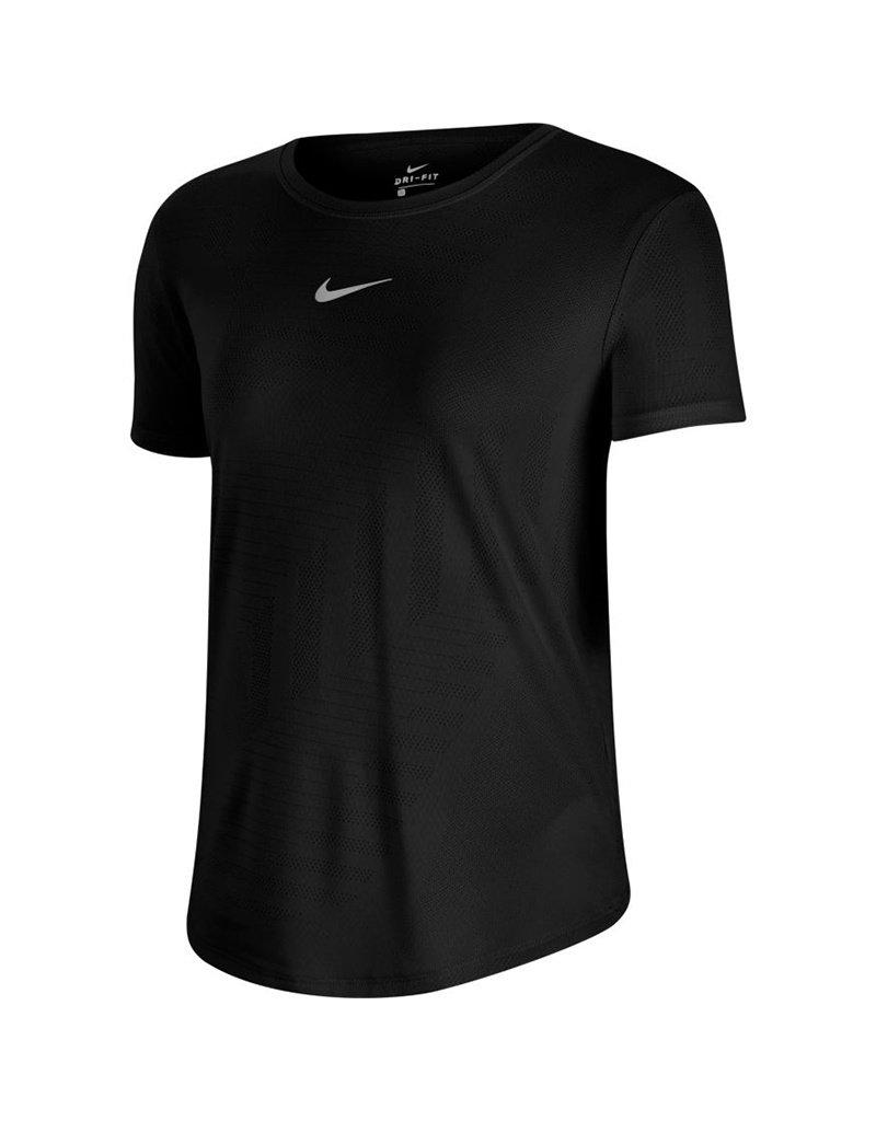 Nike Shortsleeve Shirt Zwart