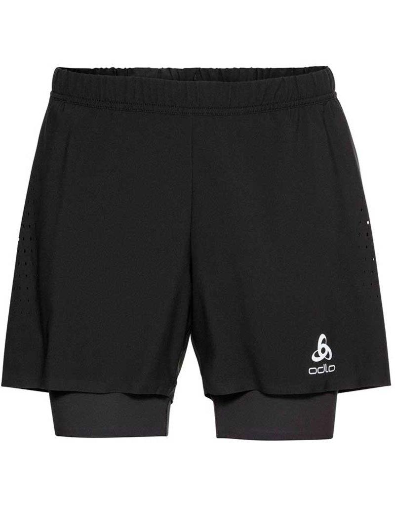 Odlo Zeroweight 5inch 2-in-1 Shorts Heren Zwart
