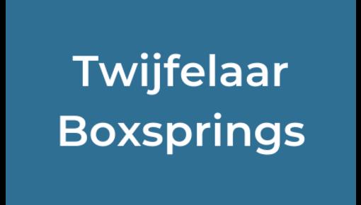 Twijfelaar boxsprings