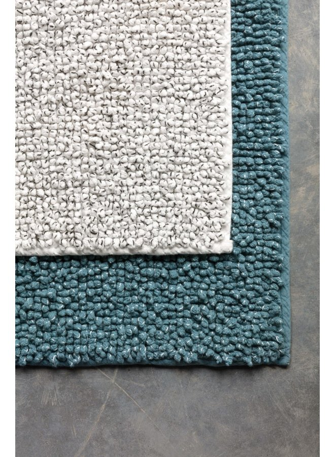Twisted badmat blauw